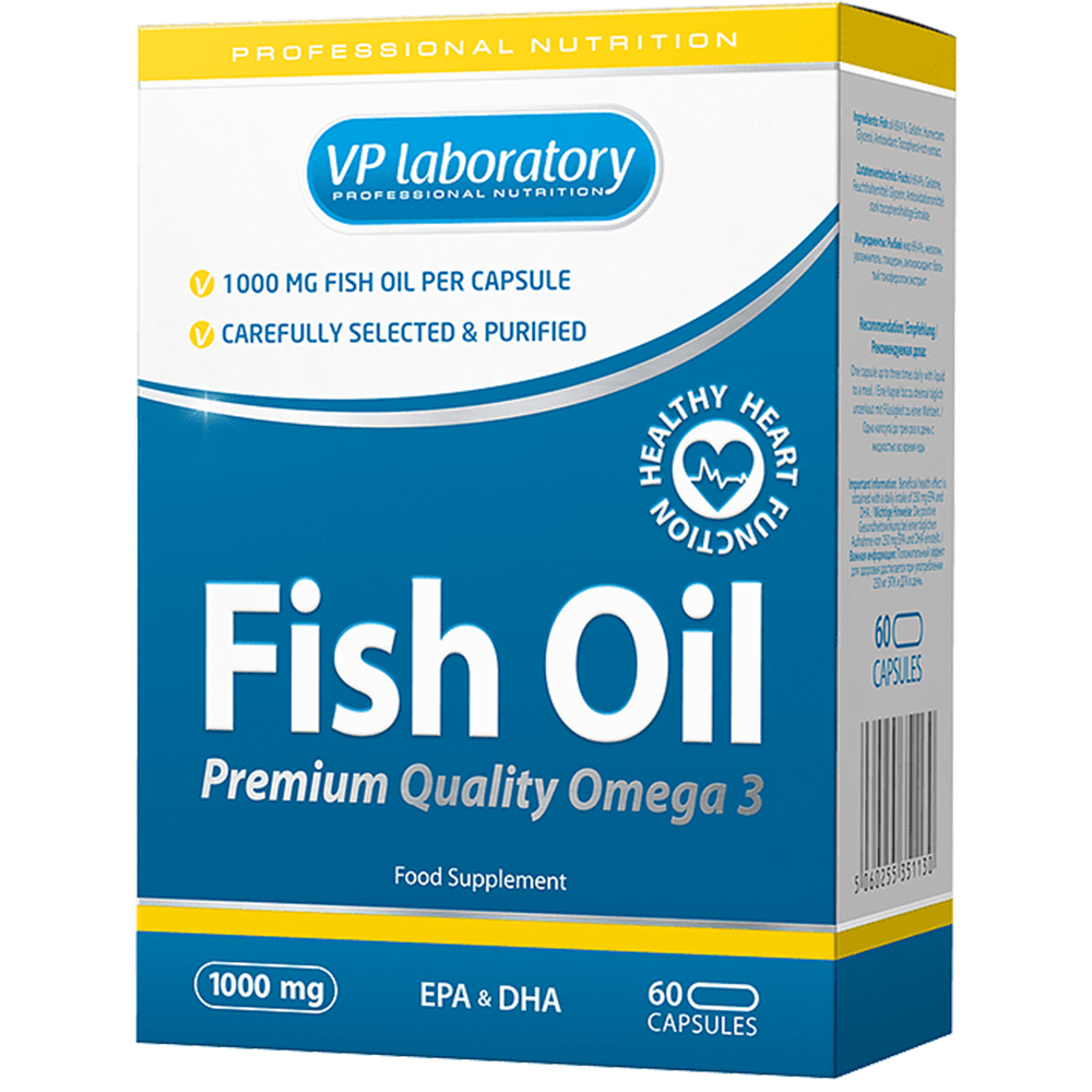 Витамины VPlab Fish Oil 1000 mg 60 caps