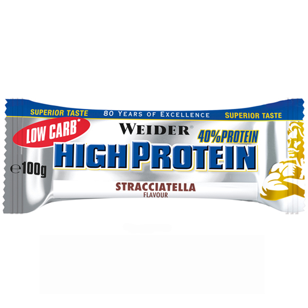 Батончик Weider 40% Low Carb High Protein bar 100 g Страчателла