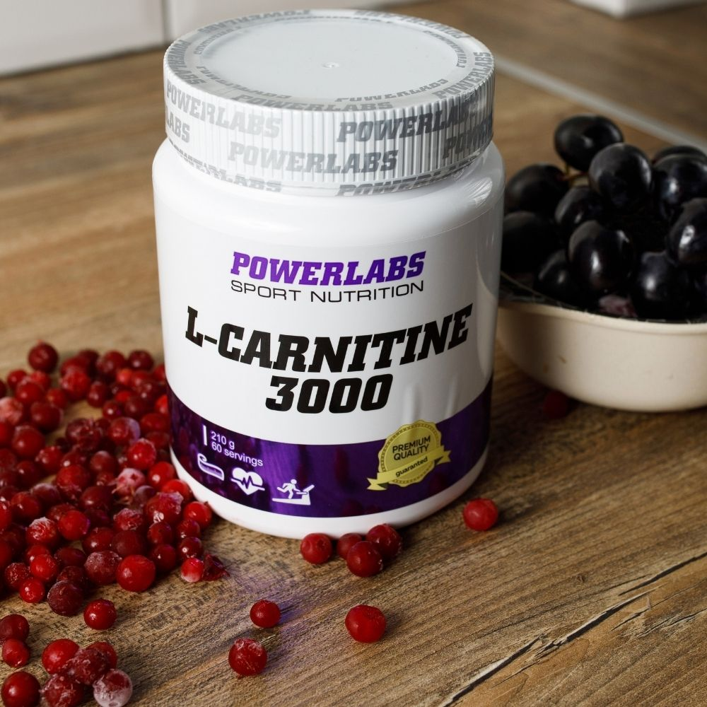 L-карнитин PowerLabs L-Carnitine 210 g Лимон